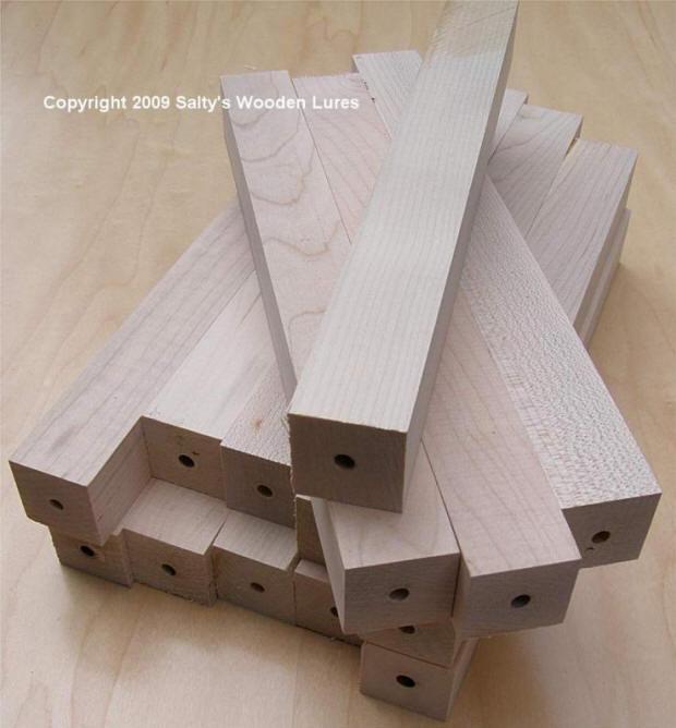 Wood Lure Turning Squares